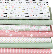 Patchwork- und Quiltpaket 'Wimpern', rosa/lindgrün