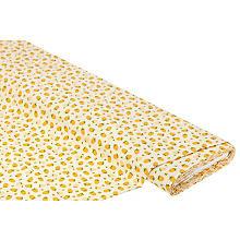 Baumwollstoff Himbeeren 'Mona', gelb/orange