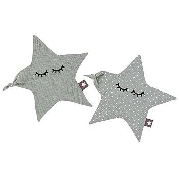 Nähset 'Schnuffeltücher Stern', für 2 Stück, mint