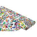 """Tissu de décoration """"fleurs estivales"""", multicolore"""