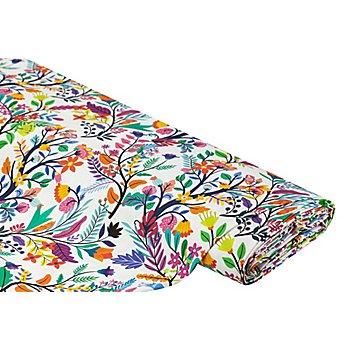 Tissu de décoration 'fleurs estivales', multicolore