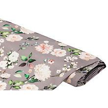 Tissu de décoration 'fleurs', gris multicolore