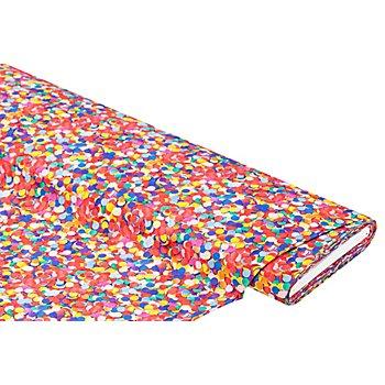 Tissu coton à impression numérique 'confettis', multicolore