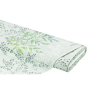 Dekostoff 'Blätter', mint/grün