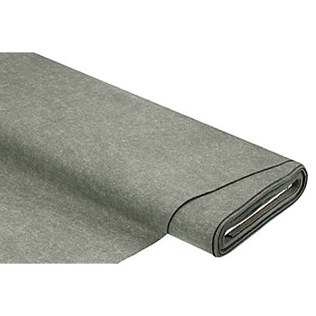 Filz, Stärke 2 mm, grau-melange
