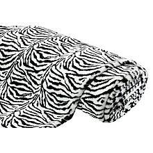 Fellimitat 'Zebra', schwarz/weiß