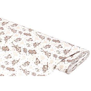 Tissu coton 'koalas', blanc multicolore
