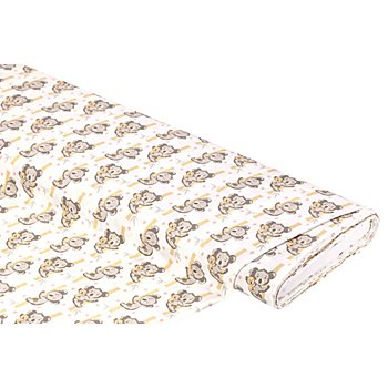Tissu coton 'koalas & c?urs', blanc multicolore