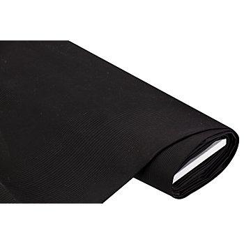 Markisenstoff 'Streifen', schwarz/dunkelgrau