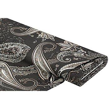 Dekostoff 'Paisley', grau-color