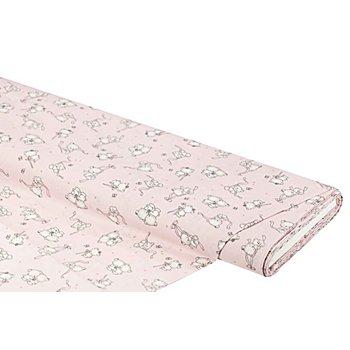 Tissu coton 'oursons', rose