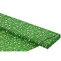 """Baumwollstoff Bäume/Kristalle """"Mona"""", grün/weiß"""