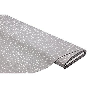 Tissu coton cristaux 'Mona', graphite/blanc