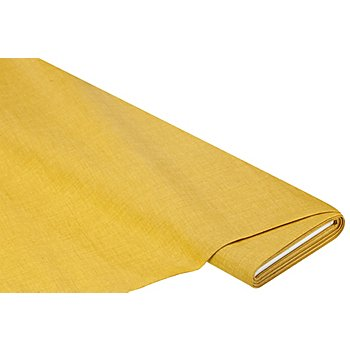 Beschichtetes Baumwollmischgewebe 'Meran' Uni, ocker