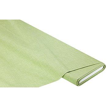 Beschichtetes Baumwollmischgewebe 'Meran' Uni, hellgrün