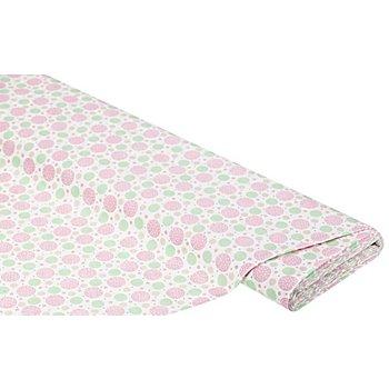 Baumwollstoff Kreise Valence 'Mona', rosa/taupe/grün