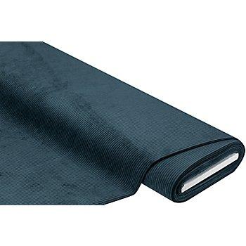 Tissu d'ameublement velours milleraies, bleu