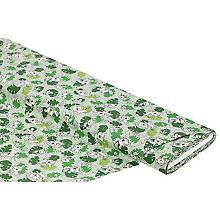 Baumwollstoff 'Wildtiere', grün-color