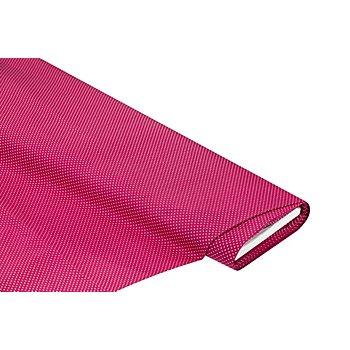 Baumwollstoff 'Pünktchen', pink/weiss, 1 mm Ø