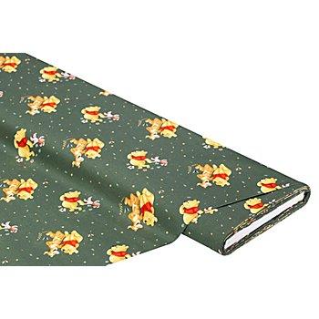 Tissu coton 'Winnie l'ourson & Tigrou', vert/multicolore