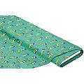 """Tissu coton """"sauterelles"""", vert/multicolore"""