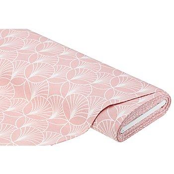 Tissu de décoration 'graphique', rose/écru