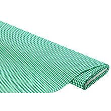 Tissu coton 'carreaux vichy', 5 x 5 mm, vert/blanc