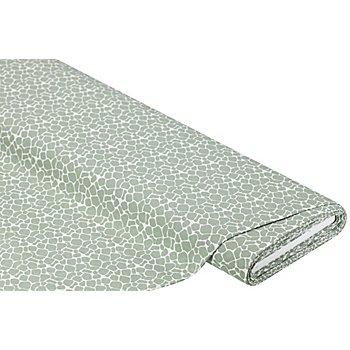 Dekostoff Flecken 'Lorena', grün/weiß