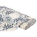 """Tissu de décoration """"feuilles"""", beige/multicolore"""