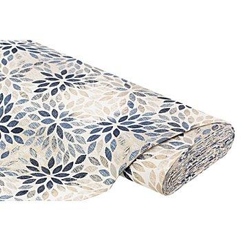 Tissu de décoration 'feuilles', beige/multicolore