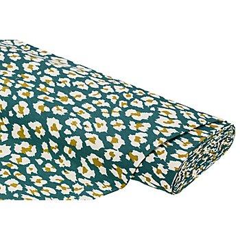 Tissu de décoration 'léopard', vert/multicolore