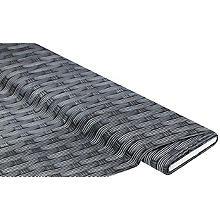 Tissu coton à impression numérique 'rotin', tons gris foncés