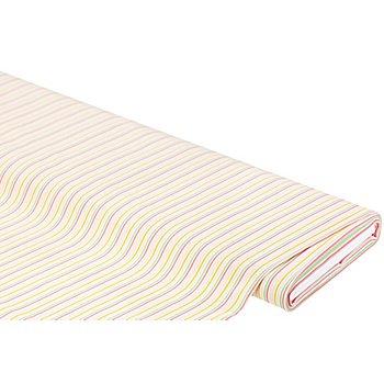 Tissu coton 'rayures', rose multicolore