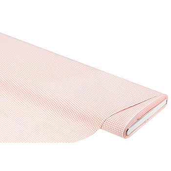 Tissu coton vichy 'lena', 3 x 3 mm, saumon/blanc
