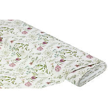 Dekostoff Blumenwiese im Vintage-Stil 'Lorena', offwhite-color