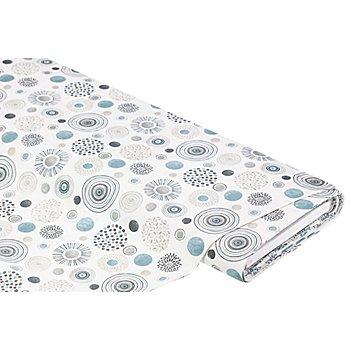 Beschichtetes Baumwollmischgewebe 'Kreise & Punkte', grau-color