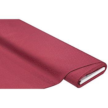Tissu coton damassé 'rondo', bordeaux