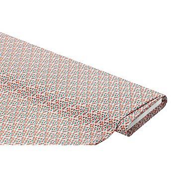 Baumwollstoff Mille Fleurs 'Lena', rot/blau