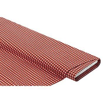 Baumwollstoff 'Kreise & Rauten', rot-color