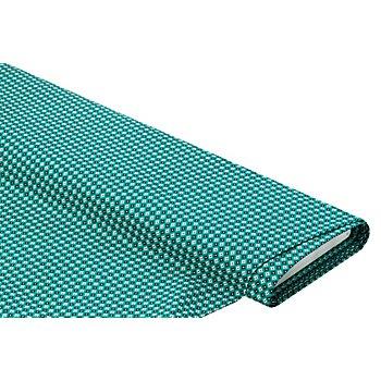 Baumwollstoff 'Kreise & Rauten', grün-color