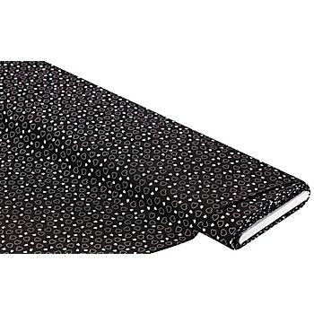 Tissu coton 'coeurs', noir/blanc