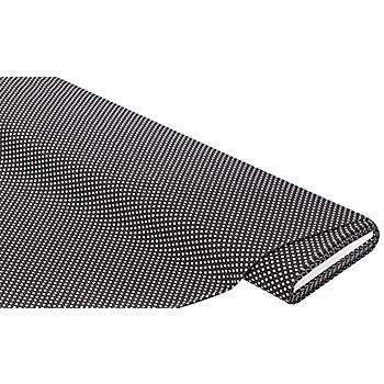Tissu coton 'vannerie', noir/blanc