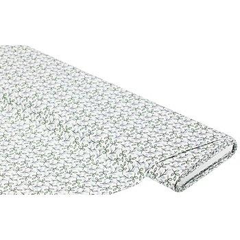 Baumwollstoff Zweige 'Mona', lindgrün/weiß