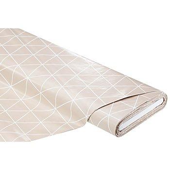 Linge de table épongeable - toile cirée 'triangles', taupe clair