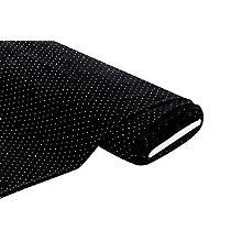 Stretch-Samt mit Strasssteinchen, schwarz