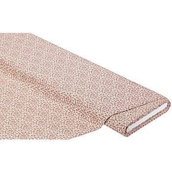 Tissu coton 'mille fleurs', écru/vieux rose
