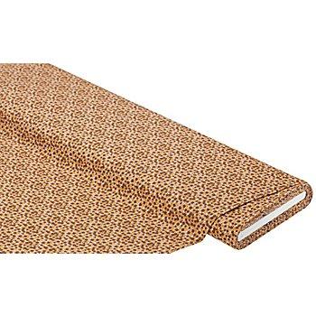 Tissu coton 'mille fleurs', marron clair/ocre