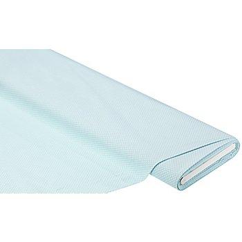 Baumwollstoff Tüpfchen 'Mona', hellblau/weiss, 2 mm Ø