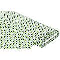 "Baumwollstoff Dreiecke ""Mona"", grün/grau/mint"
