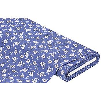 Baumwollstoff Kirschblüten 'Mona', blau-color